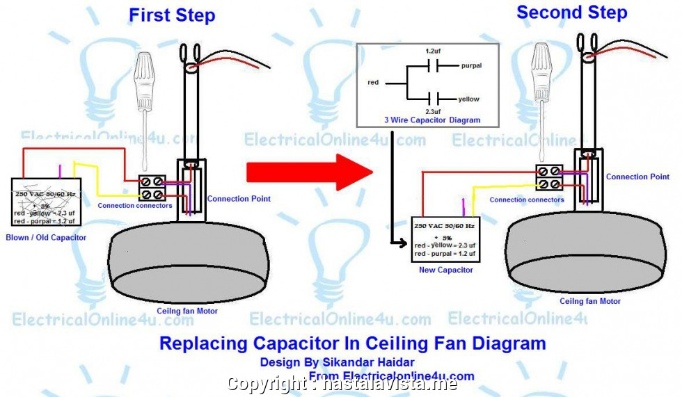expert ceiling fan 3wire capacitor wiring diagram ceiling