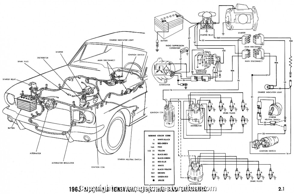 Good 1965 Mustang Ignition Wiring Diagram 1965 Mustang Wiring Diagrams - Average Joe Restoration