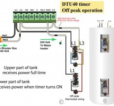 Detail Wiring Diagram For Electric Hot Water Heater How To Wire Water Heater Thermostats