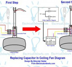 Expert Ceiling Fan 3-Wire Capacitor Wiring Diagram Ceiling Fan Wiring Diagram With Capacitor | Hastalavista.Me